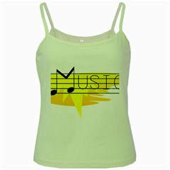 Music Dance Abstract Clip Art Green Spaghetti Tank by Celenk