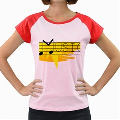 Music Dance Abstract Clip Art Women s Cap Sleeve T Shirt