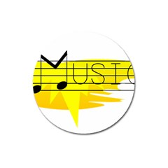 Music Dance Abstract Clip Art Magnet 3  (round) by Celenk