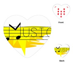 Music Dance Abstract Clip Art Playing Cards (heart)