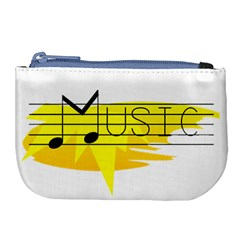 Music Dance Abstract Clip Art Large Coin Purse by Celenk