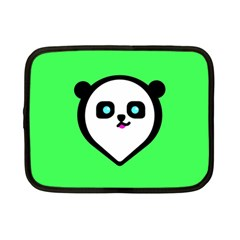 Panda Bear Netbook Case (small)  by Celenk