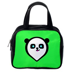 Panda Bear Classic Handbags (one Side) by Celenk