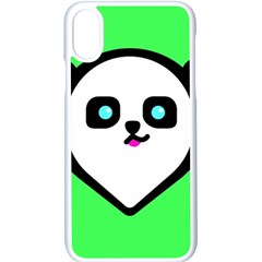Panda Bear Apple Iphone X Seamless Case (white)