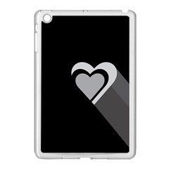 Heart Love Black And White Symbol Apple Ipad Mini Case (white) by Celenk
