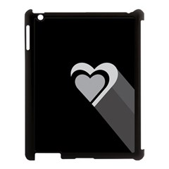Heart Love Black And White Symbol Apple Ipad 3/4 Case (black) by Celenk