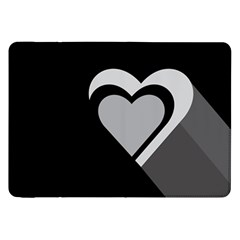 Heart Love Black And White Symbol Samsung Galaxy Tab 8 9  P7300 Flip Case by Celenk