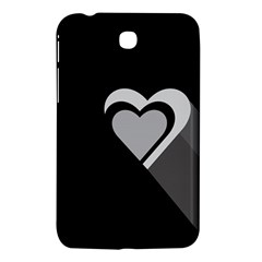 Heart Love Black And White Symbol Samsung Galaxy Tab 3 (7 ) P3200 Hardshell Case  by Celenk