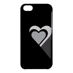 Heart Love Black And White Symbol Apple Iphone 5c Hardshell Case by Celenk