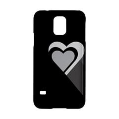 Heart Love Black And White Symbol Samsung Galaxy S5 Hardshell Case  by Celenk