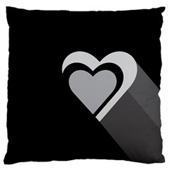 Heart Love Black And White Symbol Standard Flano Cushion Case (one Side) by Celenk