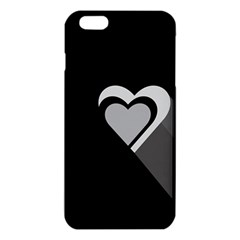 Heart Love Black And White Symbol Iphone 6 Plus/6s Plus Tpu Case by Celenk