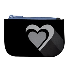 Heart Love Black And White Symbol Large Coin Purse by Celenk