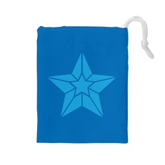 Star Design Pattern Texture Sign Drawstring Pouches (large)  by Celenk