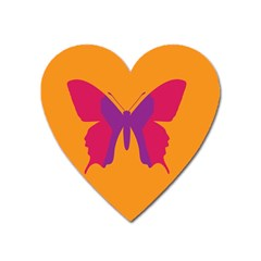 Butterfly Wings Insect Nature Heart Magnet by Celenk