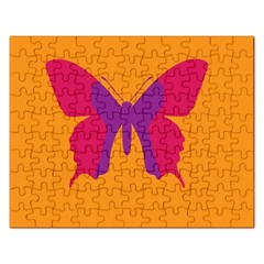 Butterfly Wings Insect Nature Rectangular Jigsaw Puzzl by Celenk
