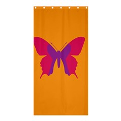 Butterfly Wings Insect Nature Shower Curtain 36  X 72  (stall)  by Celenk