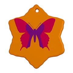 Butterfly Wings Insect Nature Ornament (snowflake) by Celenk