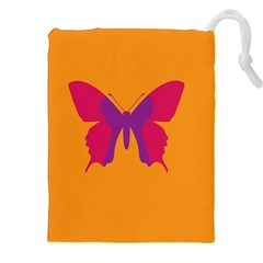 Butterfly Wings Insect Nature Drawstring Pouches (xxl) by Celenk