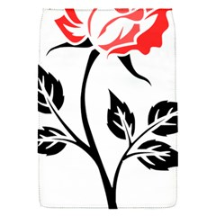 Flower Rose Contour Outlines Black Flap Covers (s)  by Celenk