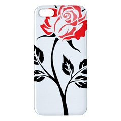 Flower Rose Contour Outlines Black Iphone 5s/ Se Premium Hardshell Case by Celenk