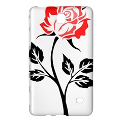 Flower Rose Contour Outlines Black Samsung Galaxy Tab 4 (8 ) Hardshell Case  by Celenk