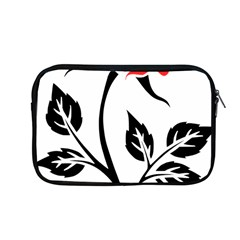 Flower Rose Contour Outlines Black Apple Macbook Pro 13  Zipper Case by Celenk