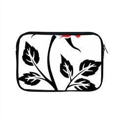 Flower Rose Contour Outlines Black Apple Macbook Pro 15  Zipper Case by Celenk
