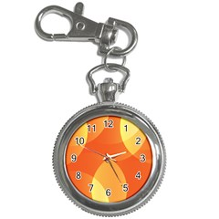 Abstract Orange Yellow Red Color Key Chain Watches