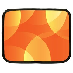 Abstract Orange Yellow Red Color Netbook Case (large)