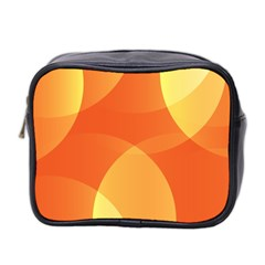Abstract Orange Yellow Red Color Mini Toiletries Bag 2 Side