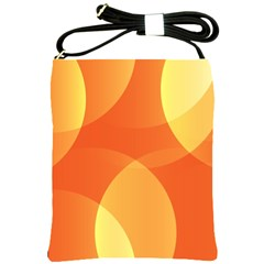 Abstract Orange Yellow Red Color Shoulder Sling Bags by Celenk