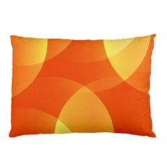 Abstract Orange Yellow Red Color Pillow Case (two Sides)