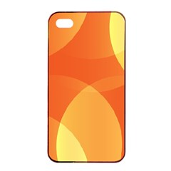 Abstract Orange Yellow Red Color Apple Iphone 4/4s Seamless Case (black) by Celenk