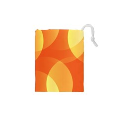 Abstract Orange Yellow Red Color Drawstring Pouches (xs)  by Celenk