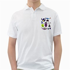 Space Clip Art Aliens Space Craft Golf Shirts