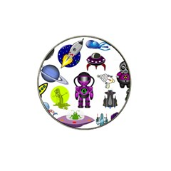 Space Clip Art Aliens Space Craft Hat Clip Ball Marker (4 Pack) by Celenk