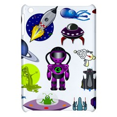 Space Clip Art Aliens Space Craft Apple Ipad Mini Hardshell Case