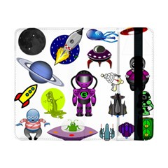 Space Clip Art Aliens Space Craft Samsung Galaxy Tab Pro 8 4  Flip Case by Celenk