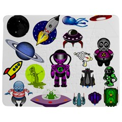 Space Clip Art Aliens Space Craft Jigsaw Puzzle Photo Stand (rectangular) by Celenk