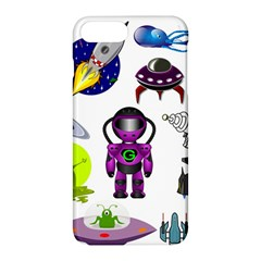 Space Clip Art Aliens Space Craft Apple Iphone 8 Plus Hardshell Case by Celenk