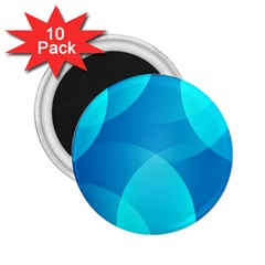 Abstract Blue Wallpaper Wave 2 25  Magnets (10 Pack)