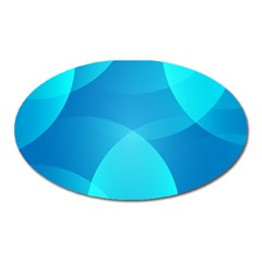 Abstract Blue Wallpaper Wave Oval Magnet