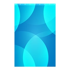 Abstract Blue Wallpaper Wave Shower Curtain 48  X 72  (small)  by Celenk