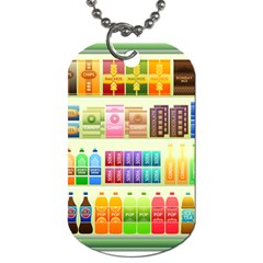 Supermarket Shelf Products Snacks Dog Tag (one Side)