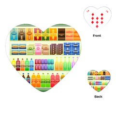 Supermarket Shelf Products Snacks Playing Cards (heart)  by Celenk