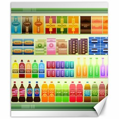 Supermarket Shelf Products Snacks Canvas 20  X 24   by Celenk