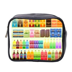 Supermarket Shelf Products Snacks Mini Toiletries Bag 2 Side by Celenk