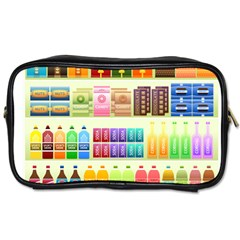 Supermarket Shelf Products Snacks Toiletries Bags by Celenk