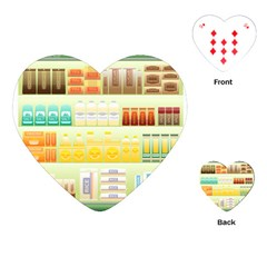 Supermarket Shelf Coffee Tea Grains Playing Cards (heart)  by Celenk